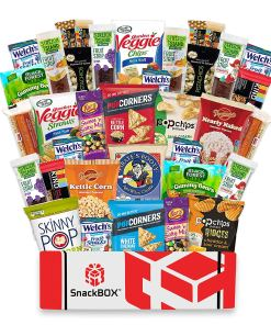 Gluten Free Snacks Care Package for College Students, Military, Office Snacks, Christmas By SnackBOX   Snack BOX