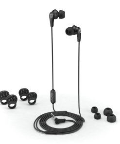 JLab Audio JBuds Pro Premium in-ear Earbuds with Mic, Guaranteed Fit, GUARANTEED FOR LIFE – Black