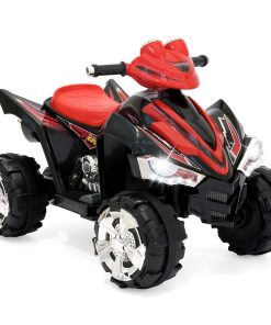 Best Choice Products 12V Kids Battery Powered Electric 4-Wheeler Quad Atv Ride On Toy W/ 2 Speeds, Led Lights – Red