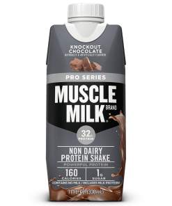 Muscle Milk Pro Series Non-Dairy Protein Shake, Knockout Chocolate, 32g Protein, 11 fl. oz., 4 Ct