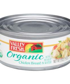 (3 Pack) Valley Fresh Organic Canned Chicken Breast with Rib Meat in Water, 5 Ounce