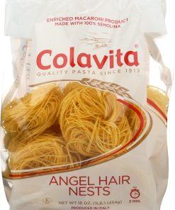 (2 pack) Colavita Angel Hair Nests Pasta, 16.0 OZ