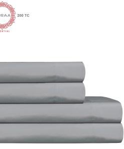 Auraa Essential 200 TC Cotton 4 PC King Sheet Set