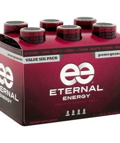 (12 Bottles) Eternal Energy Premium Energy Shot, Pomegranate, 1.93 Fl Oz