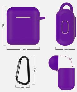 AirPods Silicone Case Cover Protective Skin with Keychain for Apple Airpod Charging Case
