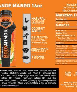 BODYARMOR Sports Drink, Orange Mango, 16 Fl. Oz., 12 count