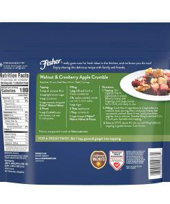 FISHER Chef's Naturals Walnut Halves & Pieces, 16 oz, Naturally Gluten Free, No Preservatives, Non-GMO