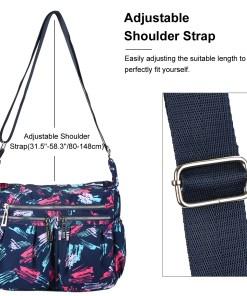 Cross-body Bag-Fitbest Women Girls School Backpack Classic Travel Shoulder Bag Trendy Messenger Bag Large-capacity Nylon Cross-body Bags