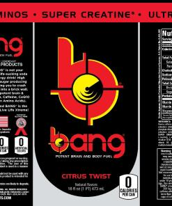 (12 Cans) Bang Citrus Twist Energy 16 fl oz