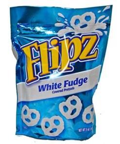 6 PACKS : Flipz Pretzels, White Fudge, 5-Ounce Packages