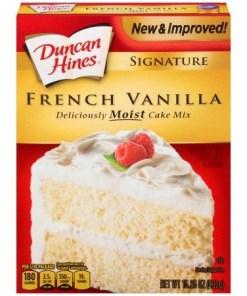 (2 Pack) Duncan Hines French Vanilla Cake Mix 15.25 oz Box