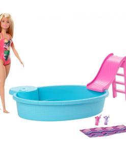 Barbie Blonde Doll and Pool Playset