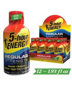 (12 Count) 5-hour ENERGY® Shot, Regular Strength, Citrus Lime, 1.93 oz