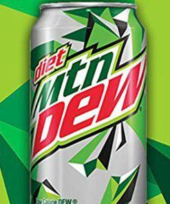 36-PACK Diet Mountain Dew Original Soft Drink Cola, ZERO Calories, 12 oz Cans