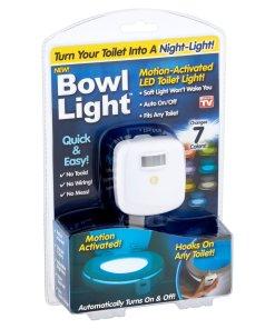 As Seen on TV Bowl Light Motion-Activated LED Toilet Light, 1 Each