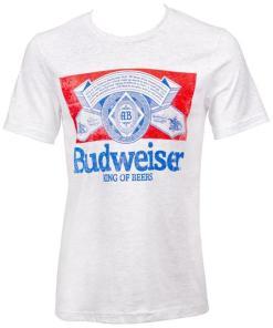 Budweiser 798656-L Budweiser Vintage Logo T-Shirt – Large