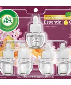 Air Wick Plug in Refill, 5Ct, Summer Delights, Scented Oil, Air Freshener, Essential Oils