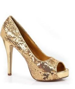 415-FLAMINGO, 4 Inch Heel Glitter Shoes