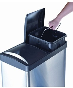 Step N' Sort 16-Gallon 2-Compartment Trash and Recycling Bin – Available in Multiple Colors.
