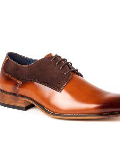 Gino Vitale Men's Two Tone Plain Toe Dress Shoes