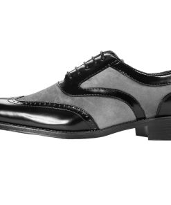 Sio Men's Two-Tone Brighton Wingtip Oxford Dress Shoe