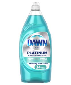 Dawn Platinum, Bleach Alternative, Dishwashing Liquid Dish Soap, Morning Mist, 34 fl oz