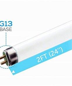 (6 Pack) F17T8/865 17W 24 Inch T8 Fluorescent Tube Light Bulb, 6500K Daylight White, Medium Bi-Pin (G13) Base, 17 Watt T8 Light Bulbs