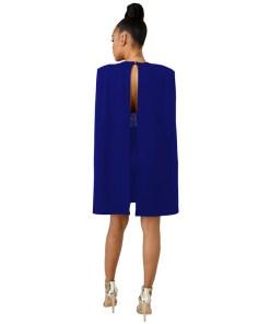 Diamonds Sexy Deep V Neck Bodycon Dress with Cloak Women Sleeveless Mini Club Party Dresses Detachable Cape Poncho