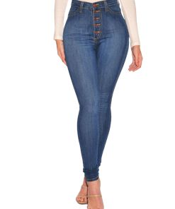Lookwoild WOMEN HIGH WAISTED Denim SKINNY JEANS JEGGINGS STRETCHY LONG Pants SIZE 6 To 20