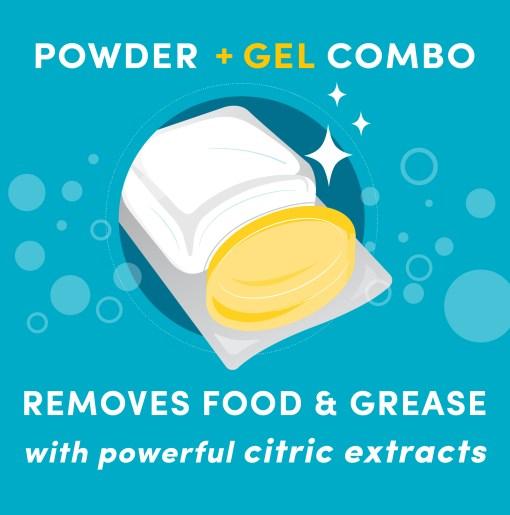 Lemi Shine Dishwasher Pods, Natural Lemon Scent, 60ct