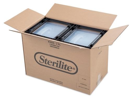 Sterilite 3 Drawer Cart Black