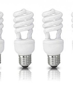 (4 Pack) Circle 23 Watt – 100 Watt CFL Cool White Light Bulb, CFL 4100K, Spiral Medium Base, CFL 100W Equivalent Light Bulbs, UL Listed