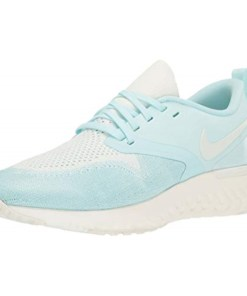 nike women's odyssey react flyknit 2 running shoes teal tint and sail 8.5