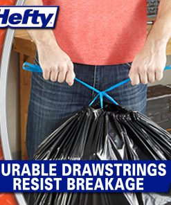 Hefty Strong Lawn and Leaf Large Garbage Bags, 39 Gallon, 38 Count