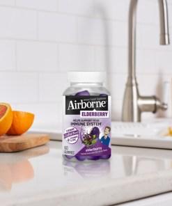 Airborne Elderberry Gummies Immune Support Supplement – 60 Gummies