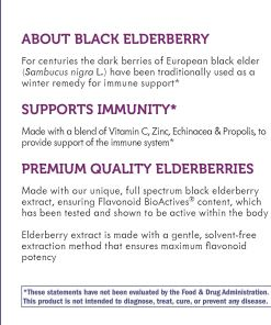 Sambucus Standardized Elderberry Immune Syrup with Echinacea Zinc & Vitamin C 8 Oz