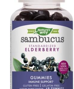 Sambucus Standardized Elderberry Gummies, Immune Support Supplement, 60 ct