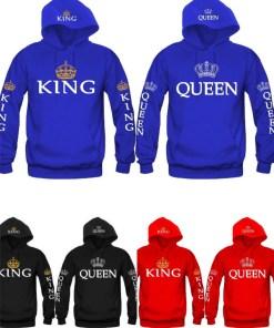 Blue King &amp Queen Hoodies