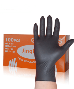Black nitrile nitrile disposable gloves