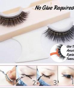 3D Mink False Eyelashes Extension Reusable Self-Adhesive Natural Curly Eyelashes Self Adhesive Eye lashes Makeup Tools