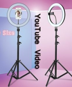 Youtube LED Selfie Three-speed Cold Warm Stepless Lighting Dimmable LED Ring Light Video Lamp With 50/160cm Tripod Ring Light