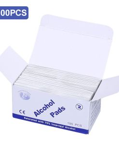 100Pcs Disposable Alcohol Pads 2-Ply Cotton Personal Care (100pcs)