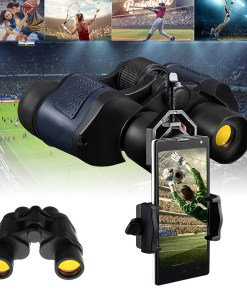 60×60 BAK4 Outdoor Tactical Binocular HD Optic Night Vision 3000M Coordinates Telescope Camping Hiking