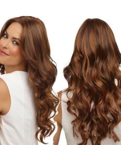 Long Curls In A Woman's Wig (dark brown)