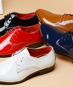Men's Formal Shoes Patent Leather Spring & Summer / Fall & Winter Business / British Oxfords Black / White / Red / Party & Evening / Party & Evening