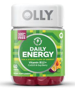 OLLY Daily Energy Gummies with B12, CoQ10, & Goji Berry, Caffeine Free, 60 ct