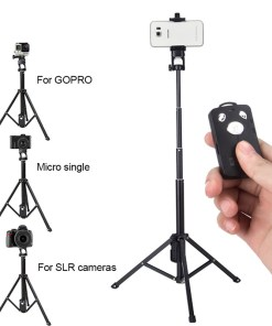 3in1 Bluetooth Remote Shutter Handle Selfie Stick Mini Table Tripod for IOS Android Iphone Samsung Smartphone Gopro