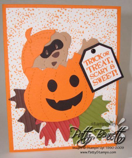 Bear halloweeen card