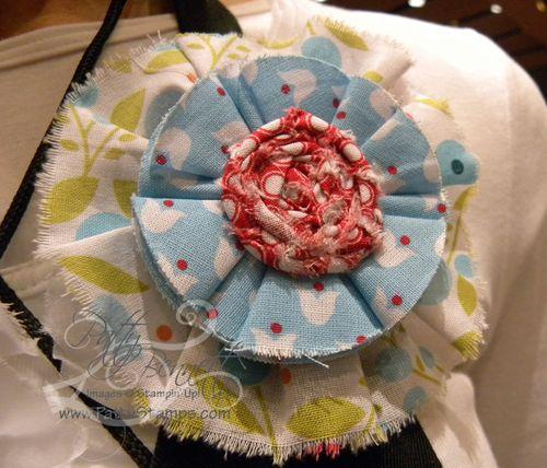 1 leadership fabric flower pin