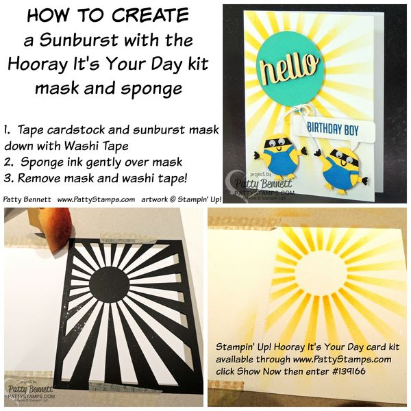 Hooray-its-your-day-starburst-how-to-mask-sponge-stampin-up